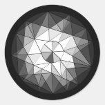 Pegatina geométrico de la joya de la piedra