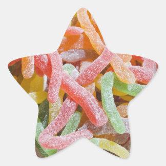 Pegatina gomoso de la estrella del caramelo para