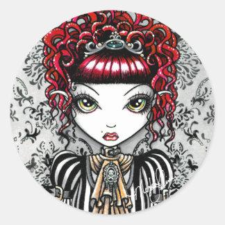 Pegatina gótico de Fae del Victorian de Annie