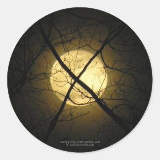 Pegatina gótico de la luna