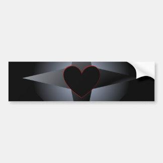 Pegatina gótico del diseño del corazón pegatina de parachoque