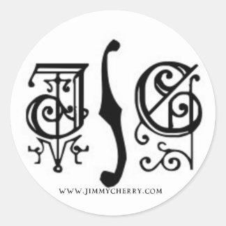 Pegatina gótico del logotipo de JC