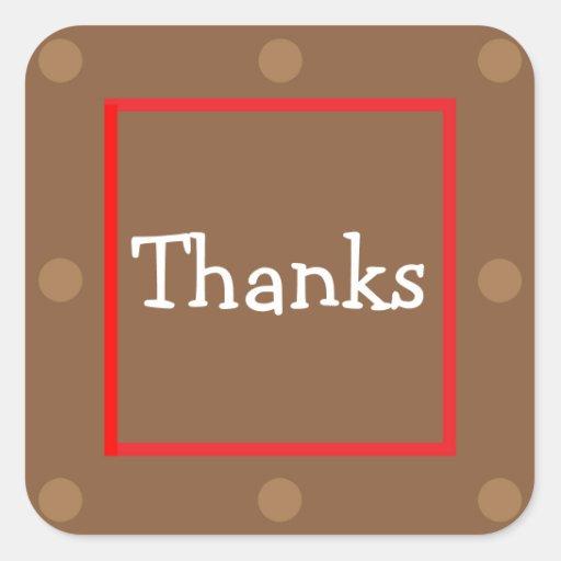 Pegatina - gracias