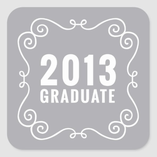 Pegatina graduado de la suposición 2013