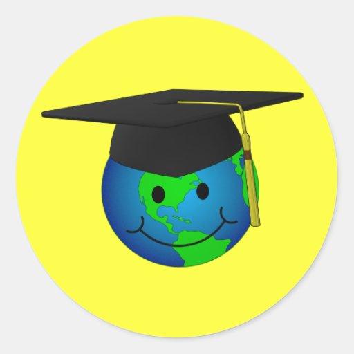 Pegatina graduado del smiley