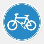 Pegatina grande de la bicicleta azul