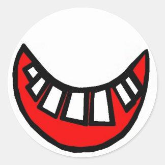 pegatina grande de la sonrisa dentuda