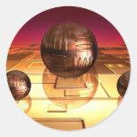 Pegatina grande de las esferas
