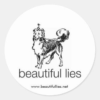 Pegatina grande del perro hermoso de las mentiras