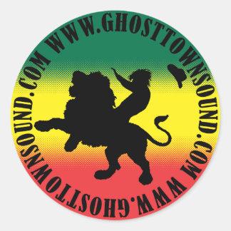 Pegatina grande sano del pueblo fantasma