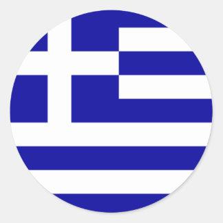 Pegatina griego de la bandera