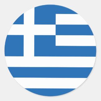 Pegatina griego patriótico redondo