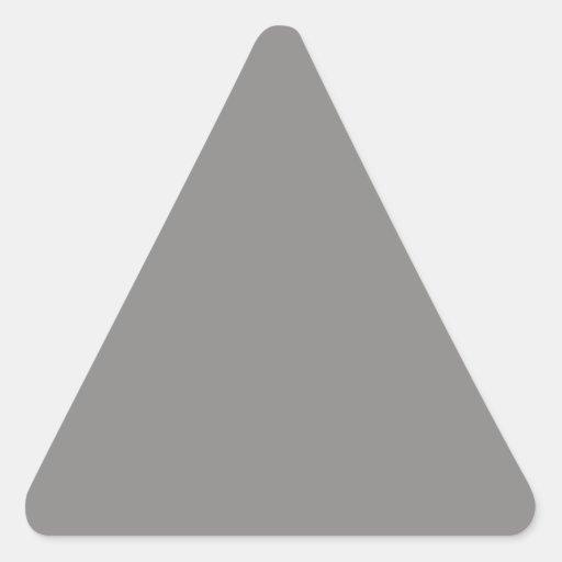 Pegatina gris claro del triángulo