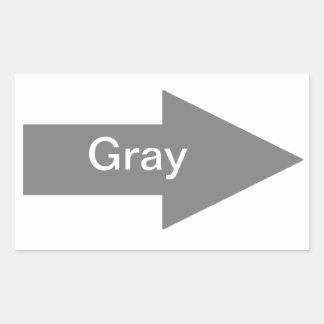 Pegatina gris de la muestra de la flecha