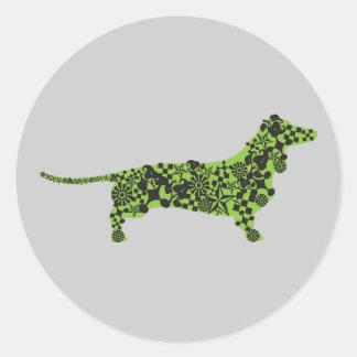 Pegatina gris y verde