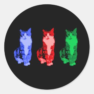 Pegatina gruñón del estallido del gato