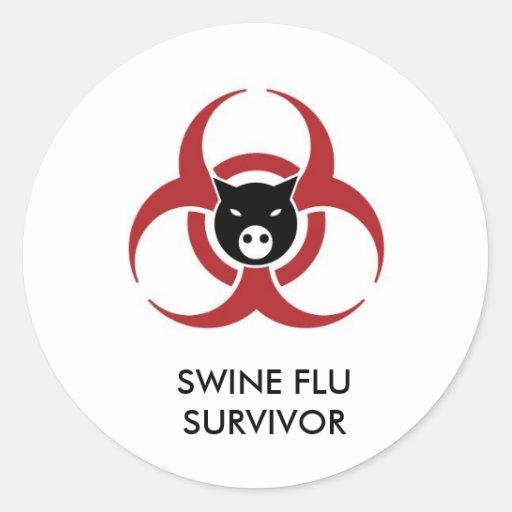 PEGATINA H1N1 DEL SUPERVIVIENTE DE LA GRIPE DE LOS