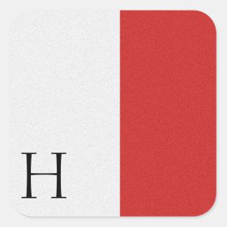 Pegatina H del alfabeto de la bandera de señal