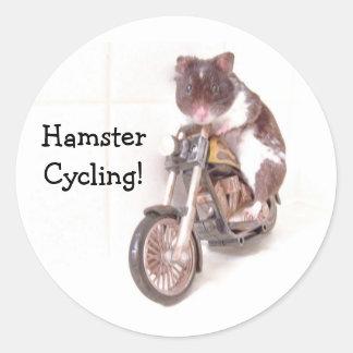 ¡Pegatina HamsterCycling! Pegatina Redonda