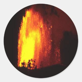 Pegatina hawaiano de la lava del volcán