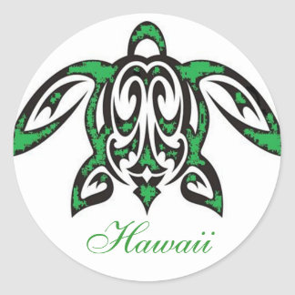 Pegatina hawaiano de la tortuga