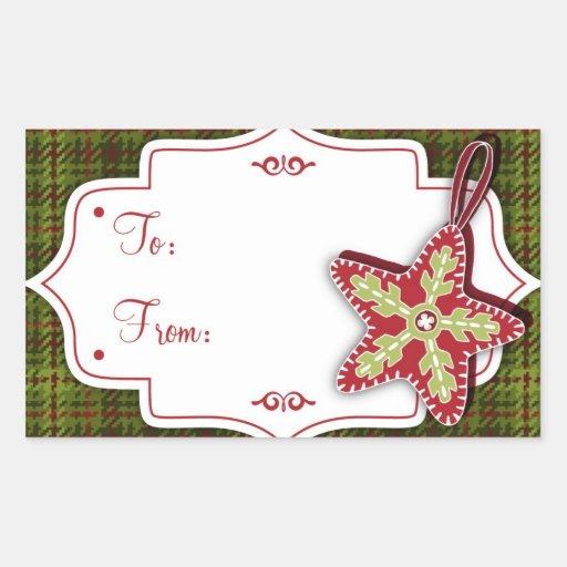 Pegatina hecho a mano de la etiqueta del regalo de