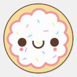 pegatina helado lindo de la galleta de azúcar del