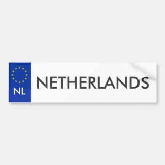 Pegatina holandés del carnet de conducir pegatina para auto