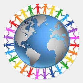 Pegatina humano del arco iris