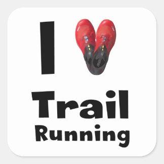 "Pegatina ""I love Trail Running"""