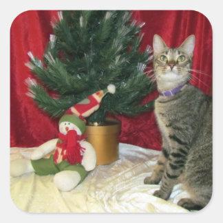 Pegatina ideal del navidad de Dora (gato/gatito)
