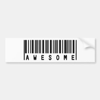 Pegatina impresionante (código de barras) pegatina para auto
