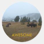 Pegatina impresionante del búfalo
