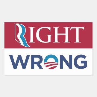 Pegatina incorrecto adecuado anti de Barack Obama
