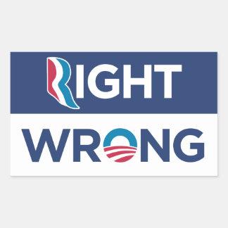 Pegatina incorrecto adecuado anti de Obama