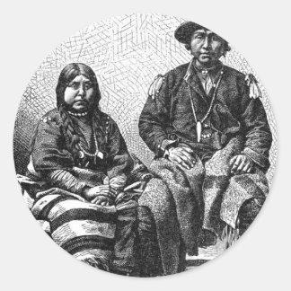 Pegatina indio americano