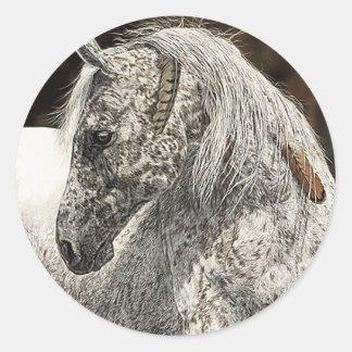 Pegatina indio del caballo