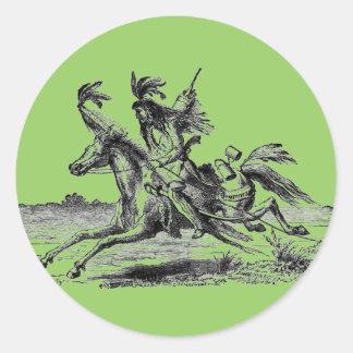 Pegatina indio del lomo de caballo