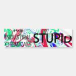 pegatina industrial de la contaminación de las sus etiqueta de parachoque