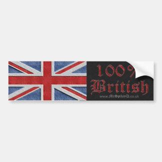 Pegatina industrial del 100 Británicos Etiqueta De Parachoque
