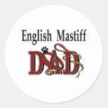 Pegatina inglés del papá del mastín