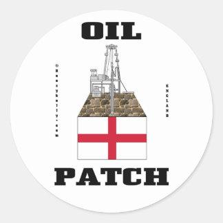 Pegatina inglés del remiendo del aceite,