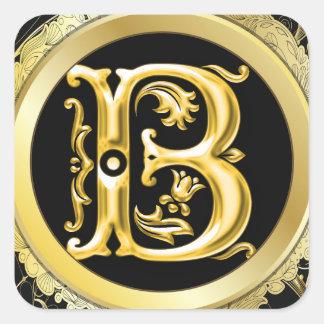 Pegatina inicial de B en oro