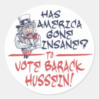 Pegatina insano de Hussein