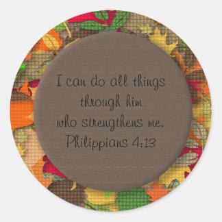 Pegatina inspirado del verso de la biblia de las h