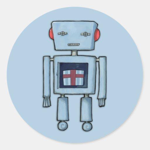 Pegatina interior del azul del robot del juguete