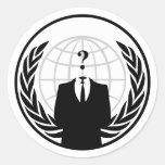 Pegatina internacional anónimo