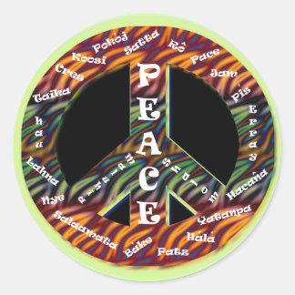 Pegatina internacional de la paz