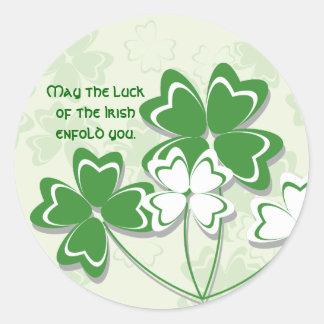 Pegatina irlandés de la suerte