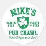 Pegatina irlandés del arrastre del Pub de Mike